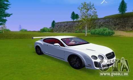 Bentley Continental Extremesports für GTA San Andreas zurück linke Ansicht