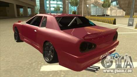 Elegy Drift pour GTA San Andreas vue arrière