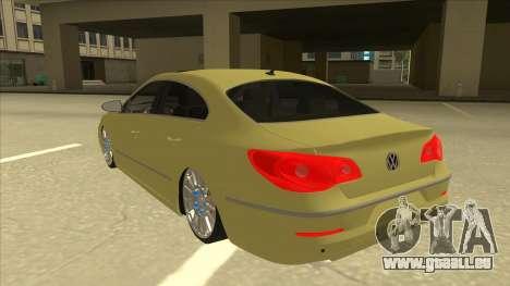 VW Passat CC für GTA San Andreas Rückansicht
