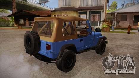Jeep Wrangler V10 TT Black Revel pour GTA San Andreas vue de droite