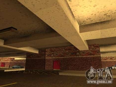 Nouveau garage intérieur police HP pour GTA San Andreas troisième écran