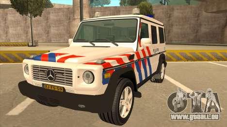European Emergency Mercedes-Benz G 2008 pour GTA San Andreas