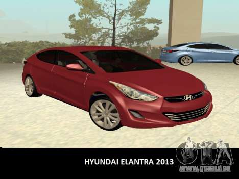 Hyundai Elantra 2013 für GTA San Andreas