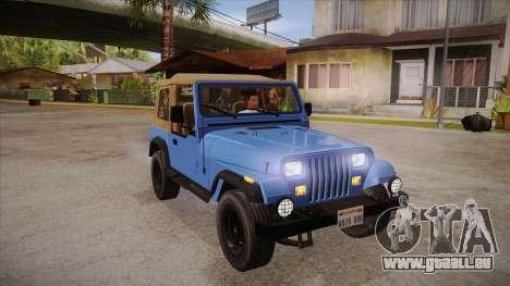 Jeep Wrangler V10 TT Black Revel pour GTA San Andreas vue arrière