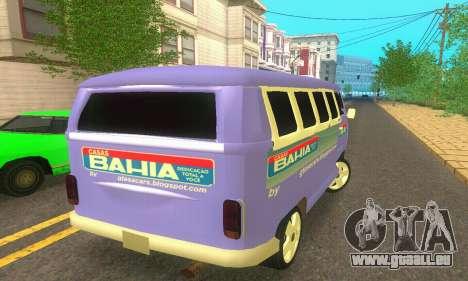 VW Kombi ESCOLAR pour GTA San Andreas sur la vue arrière gauche