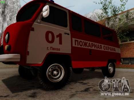 UAZ 452 Fire Staff Penza Russia für GTA San Andreas zurück linke Ansicht