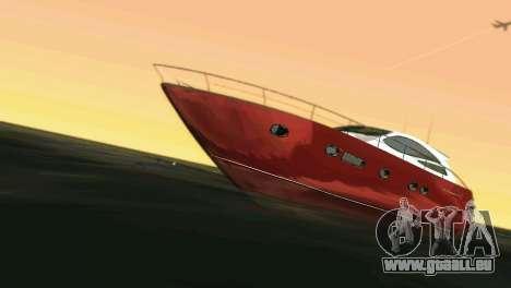Cartagena Delight Luxury Yacht pour GTA Vice City sur la vue arrière gauche