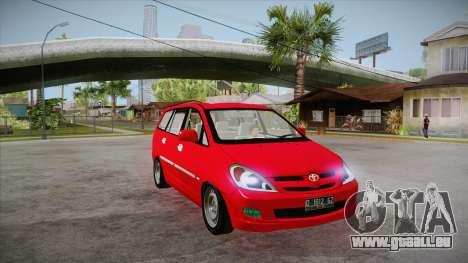 Toyota Kijang Innova 2.0 G v3.0 Steel Rims pour GTA San Andreas vue arrière