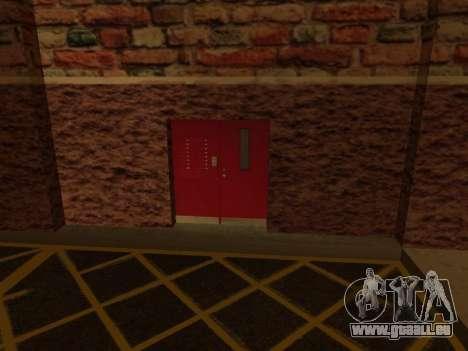 Nouveau garage intérieur police HP pour GTA San Andreas quatrième écran