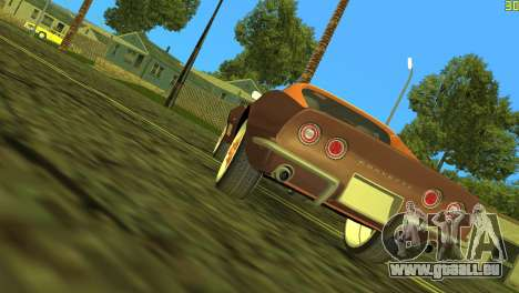 Chevrolet Corvette C3 Tuning pour GTA Vice City vue arrière