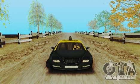 Mercenaries 2-Taxi für GTA San Andreas zurück linke Ansicht
