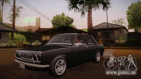 Datsun 510 RB26DETT Black Revel pour GTA San Andreas vue intérieure