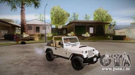 Jeep Wrangler V10 TT Black Revel pour GTA San Andreas vue de côté