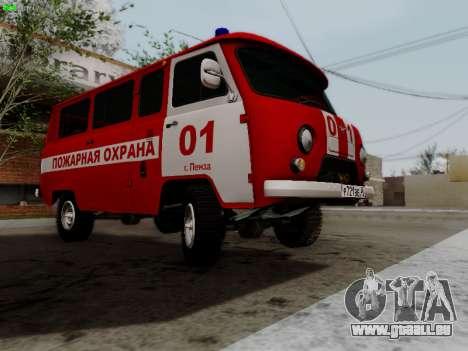 UAZ 452 Fire Staff Penza Russia pour GTA San Andreas vue intérieure