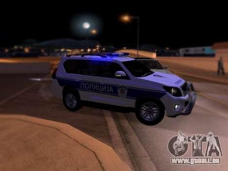Toyota Land Cruiser POLICE pour GTA San Andreas laissé vue