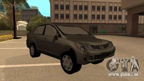 Nissan Tiida sedan pour GTA San Andreas laissé vue