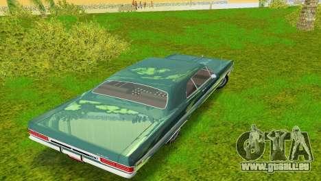 Plymouth Fury III 1969 Coupe pour une vue GTA Vice City d'en haut