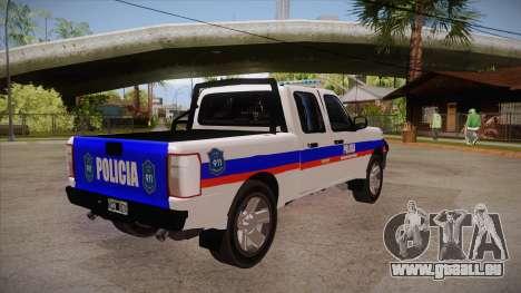 Ford Ranger 2011 Province of Buenos Aires Police für GTA San Andreas rechten Ansicht