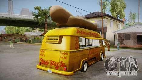 Hot Dog Van Custom pour GTA San Andreas vue de droite