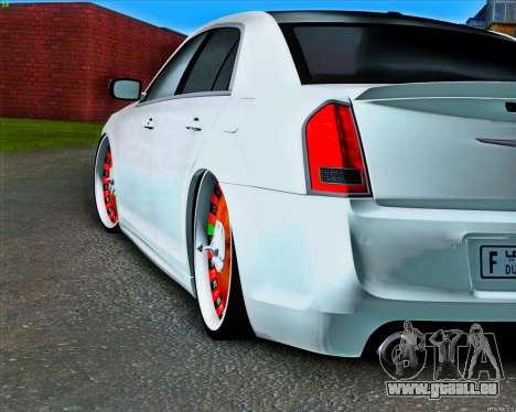 Chrysler 300 c SRT-8 MANSORY_CLUB pour GTA San Andreas vue arrière
