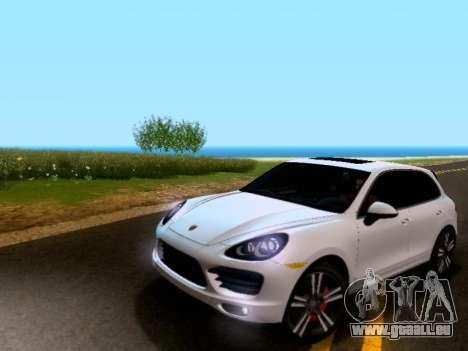 Porsche Cayenne Turbo S 2013 V1.0 pour GTA San Andreas laissé vue