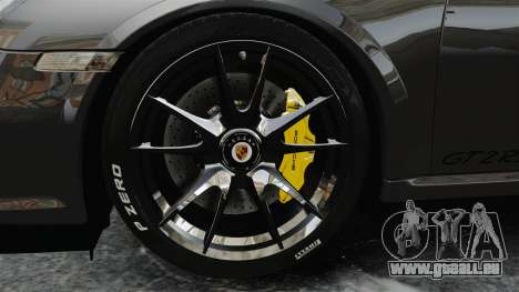 Porsche 997 GT2 2012 Simple version pour GTA 4 Vue arrière