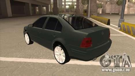 Jetta 2003 Version Normal pour GTA San Andreas vue arrière