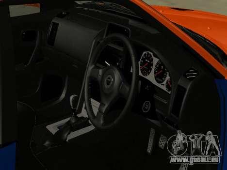 Nissan Skyline R-34 pour GTA San Andreas vue de côté