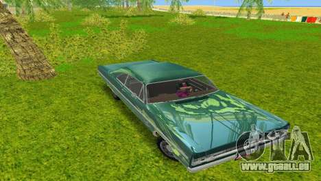Plymouth Fury III 1969 Coupe für GTA Vice City rechten Ansicht