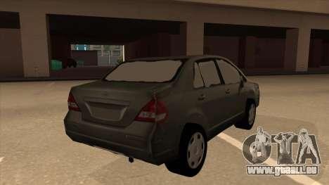 Nissan Tiida sedan pour GTA San Andreas vue de droite