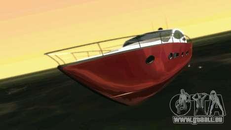 Cartagena Delight Luxury Yacht für GTA Vice City linke Ansicht