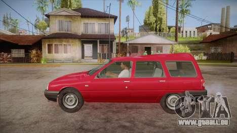 IZH 21261 Fabula BETA pour GTA San Andreas laissé vue