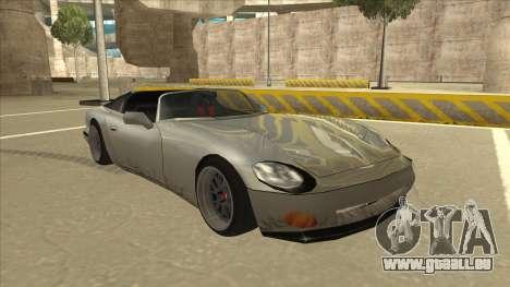 Banshee Stance pour GTA San Andreas laissé vue
