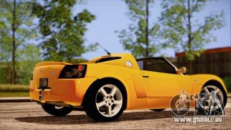 Opel Speedster Turbo 2004 für GTA San Andreas Innen