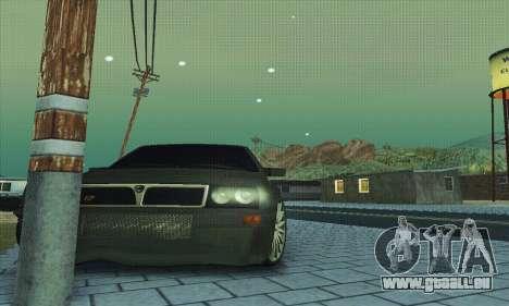Lancia Delta HF Integrale pour GTA San Andreas vue de dessous