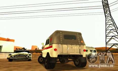 UAZ 469 Krankenwagen für GTA San Andreas rechten Ansicht