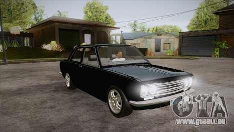 Datsun 510 RB26DETT Black Revel für GTA San Andreas Rückansicht
