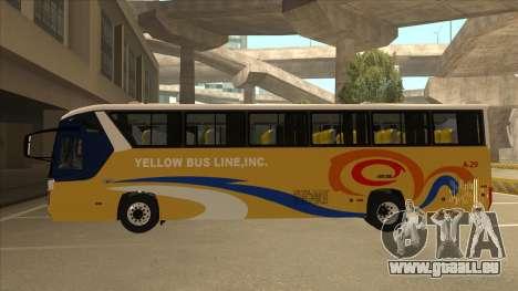 Yellow Bus Line A-29 für GTA San Andreas zurück linke Ansicht