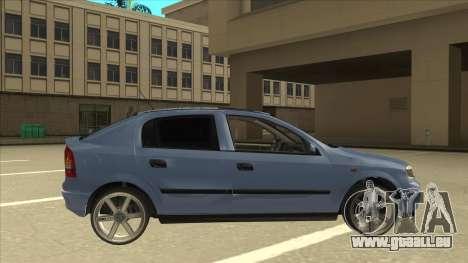 Opel Astra G Stock für GTA San Andreas zurück linke Ansicht
