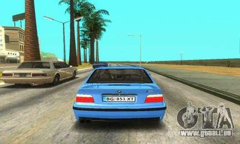 BMW M3 (E36) pour GTA San Andreas vue de droite