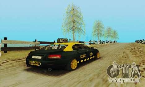 Mercenaries 2-Taxi für GTA San Andreas Innenansicht