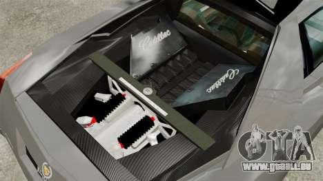 Cadillac Cien XV12 [EPM] pour GTA 4 Vue arrière