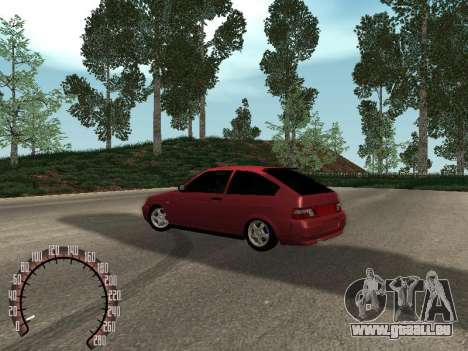 VAZ 21123 für GTA San Andreas zurück linke Ansicht