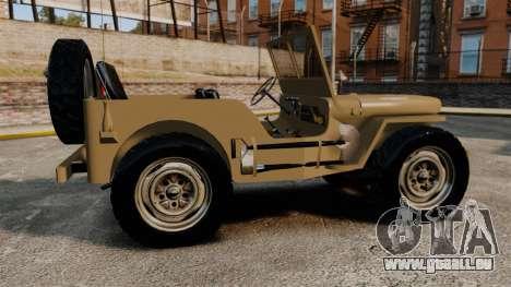 Willys MB für GTA 4 linke Ansicht