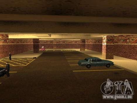 Nouveau garage intérieur police HP pour GTA San Andreas cinquième écran