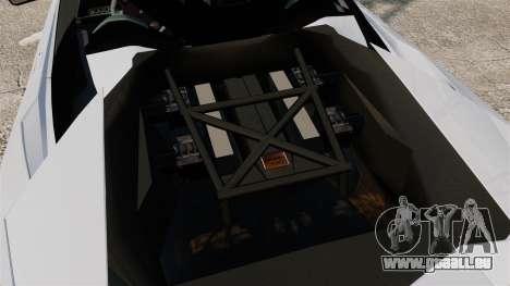 Lamborghini Reventon Roadster 2009 pour GTA 4 est une vue de l'intérieur