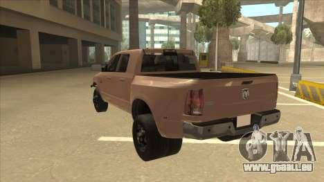 Dodge Ram [Johan] für GTA San Andreas Rückansicht