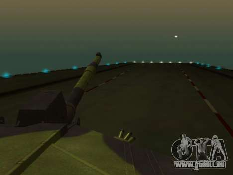 Challenger 2 für GTA San Andreas Innenansicht