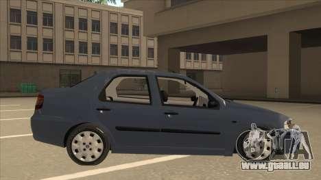 Fiat Siena Ex pour GTA San Andreas sur la vue arrière gauche