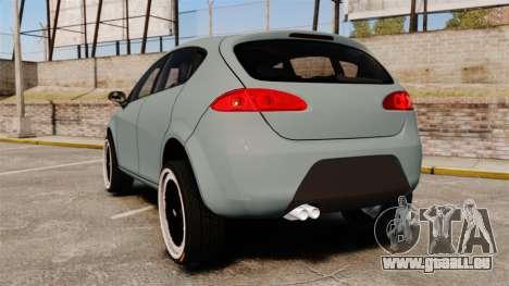 Seat Leon Gtaciyiz pour GTA 4 Vue arrière de la gauche